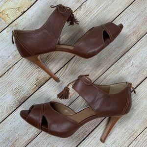 Talbots Peep Toe Bow Heels